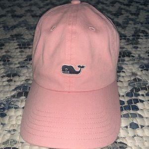 Vineyard Vines Pink Whale Logo Baseball Hat
